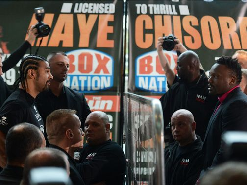 Haye and Chisora are set to meet on July 14