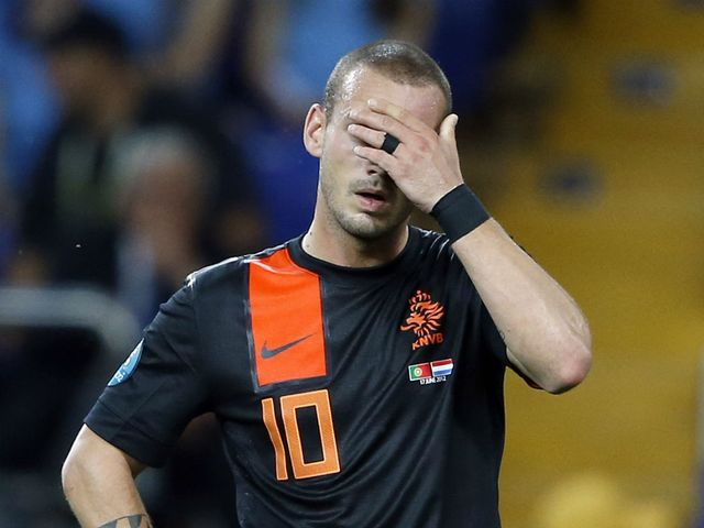 Wesley Sneijder was frustrated at Euro 2012.