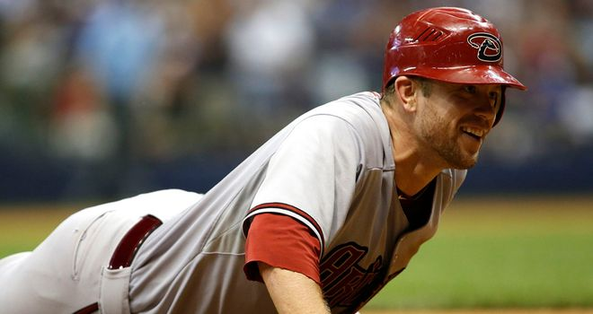 Aaron Hill: homered in the fourth innings of his side's win over the Brewers