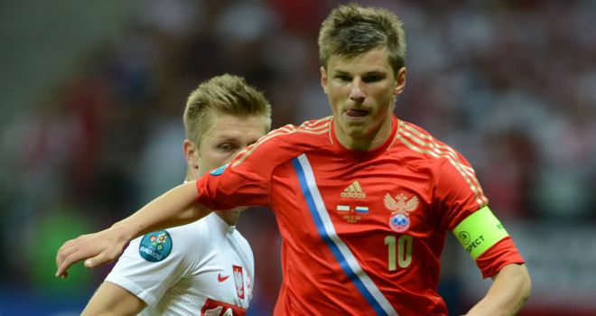 Andrei Arshavin: Hoping to inspire Russia to book their place in the last eight
