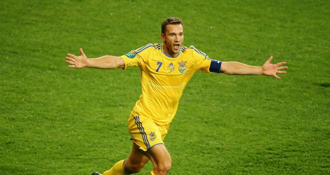 Andriy Shevchenko: Returned to training on Monday but faces a race to be fit in time to face England on Tuesday