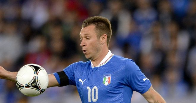 Antonio Cassano: Fined by UEFA following comments he made at Euro 2012