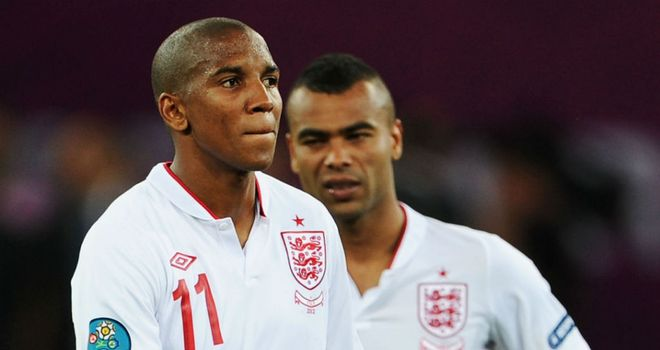 Twitter attacks: Ashley Cole and Ashley Young have been subjected to alleged abuse after missing penalties