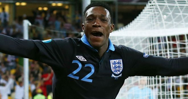 Danny Welbeck: Delighted with his finish which secured victory against Sweden