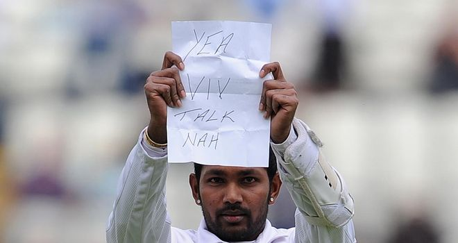 Denesh Ramdin: controversial message to a West Indian great