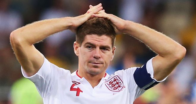 Steven Gerrard: England captain watches his team-mates miss crucial spot-kicks against Italy