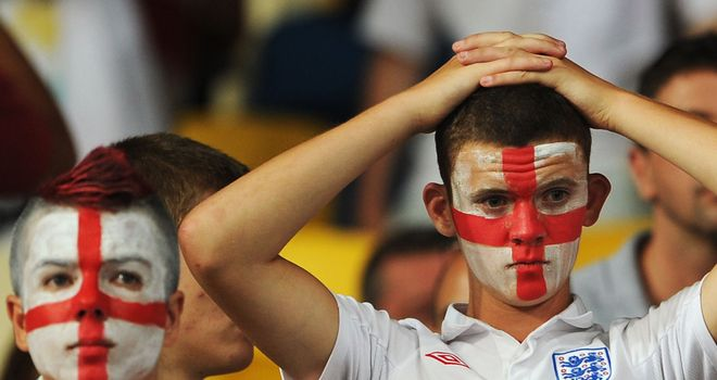 England fans: supported the team to the hilt