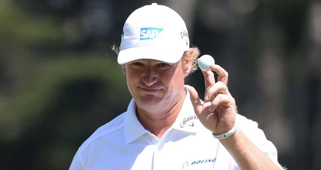 Ernie Els: Chipped in for eagle at 17