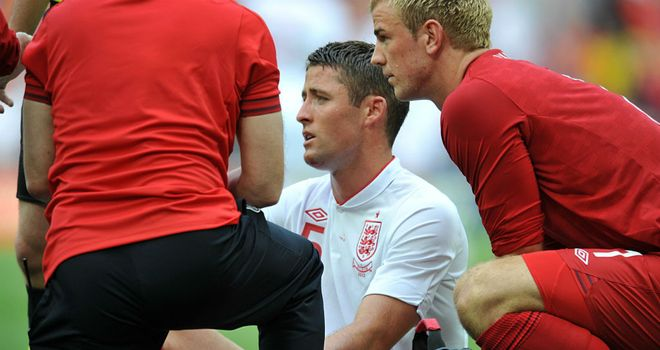 Gary Cahill: Had to be replaced against Belgium after suffering a jaw problem