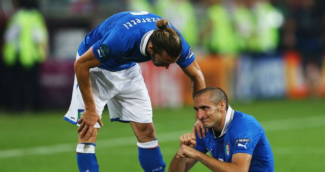 Giorgio Chiellini: Italy defender will miss the Euro 2012 quarter-final against England with a thigh injury