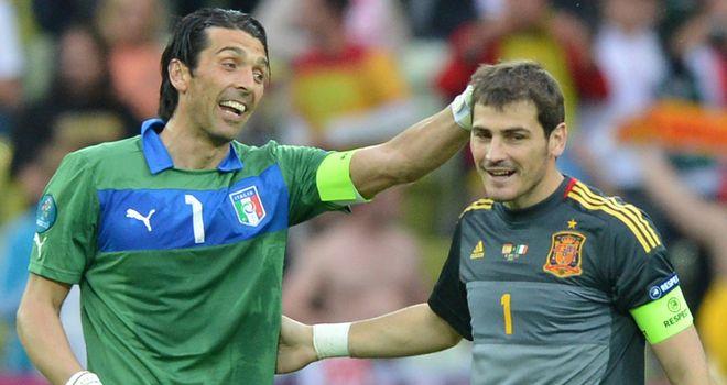 Iker Cassillas: Spain goalkeeper heaps praise on 'role model' Buffon