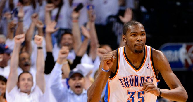 Kevin Durant: Contributed 36 points as Thunder made the perfect start