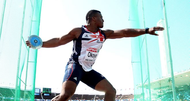 Lawrence Okoye: Qualified for his first major championship final in Helsinki