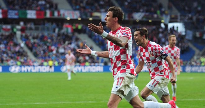 Darijo Srna: Croatia skipper protesting against a decision given by the referee