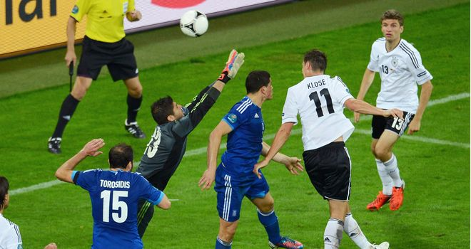 Miroslav Klose: The Germany striker will be hoping to keep his against Italy after his Euro 2012 quarter-final goal against Greece