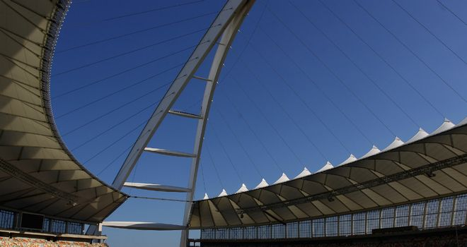 The Moses Mabhida Stadium, venue for one of Manchester United's pre-season games in South Africa