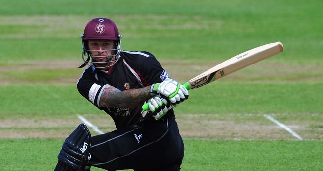 Peter Trego: Only batsman to depart in the limited play