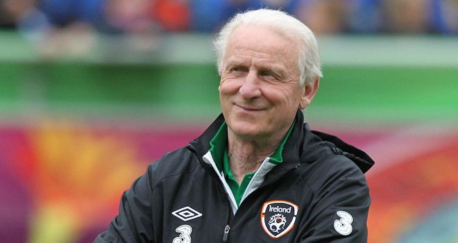 Trapattoni: will lead Ireland against his native Italy at the Euros