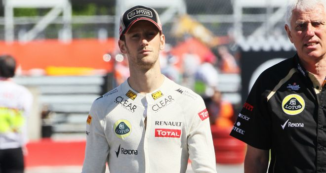 Romain Grosjean: Will take a five place grid drop at the German Grand Prix
