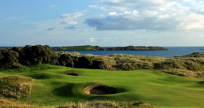 The 13th hole at Royal Portrush
