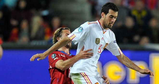 Sergio Busquets: Spain midfielder bemoaned poor Gdansk pitch