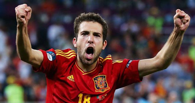 Jordi Alba: The left-back has moved from Valencia to Barcelona in a ¿14m (£11m) move
