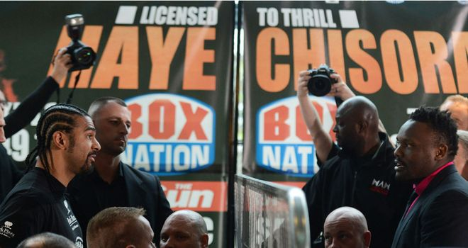 Haye (left) and Chisora: both are ready to settle the score in the ring on July 14