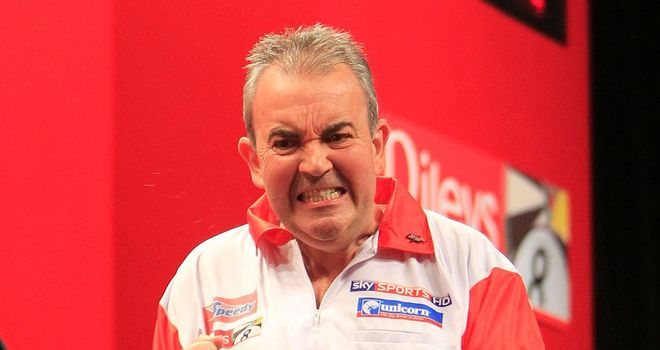 Phil Taylor: Very impressive against Baxter (pic Lawrence Lustig)