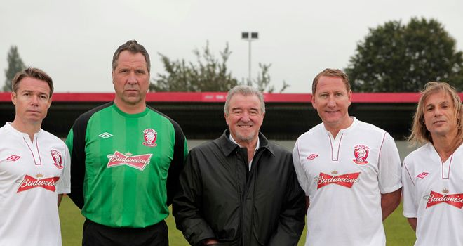 Former stars: Venables has enlisted a host of ex-internationals at Wembley FC
