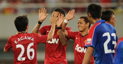 Kagawa: Celebrates scored his first goal for United