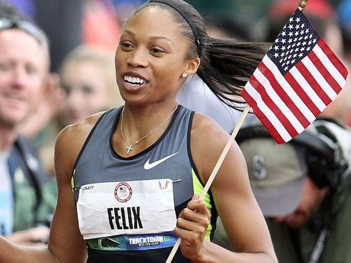 Allyson Felix: Booked place in the team