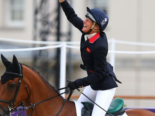 Mary King: Celebrates clear round