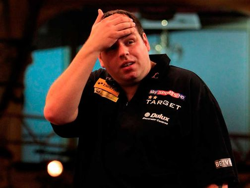 Lewis: Eliminated from Grand Slam of Darts
