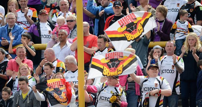 Bradford supporters are expected in large numbers for Friday's derby