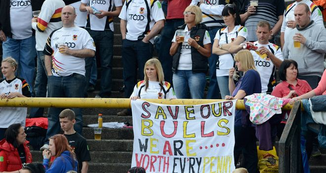 Bradford fans are still hoping their club will be saved