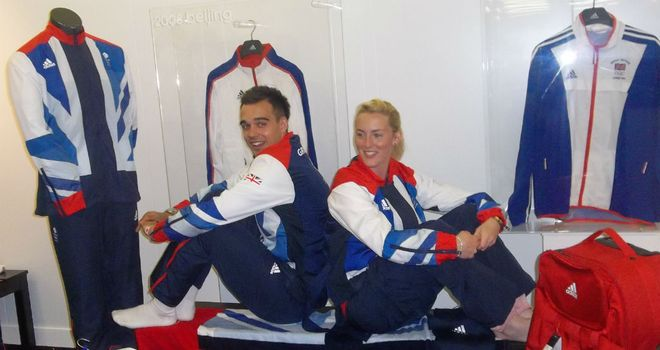 Chris Adcock and Imogen Bankier: Getting their GB kit with just 11 days to go