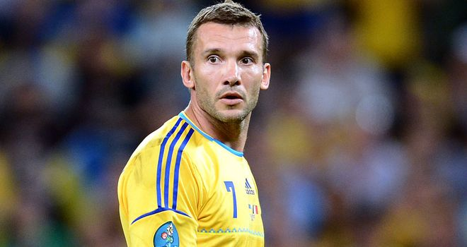 Andriy Shevchenko: Offered the top job by Ukraine's football federation