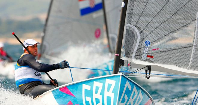 Ben Ainslie: Finished behind Finn leader Jonas Hogh-Christensen for a fifth consecutive race