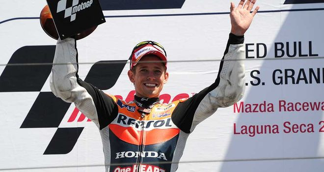 Casey Stoner: Edged out rival Jorge Lorenzo in California