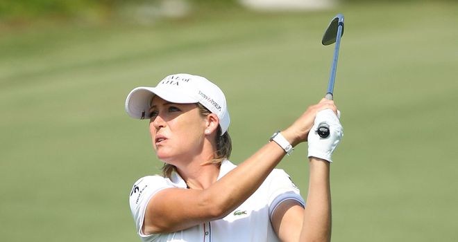 Cristie Kerr: In a three-way tie for the lead