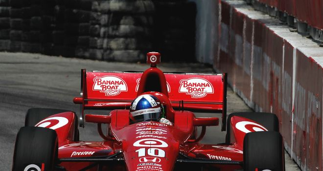 Dario Franchitti: On pole for Edmonton round of IndyCar Series