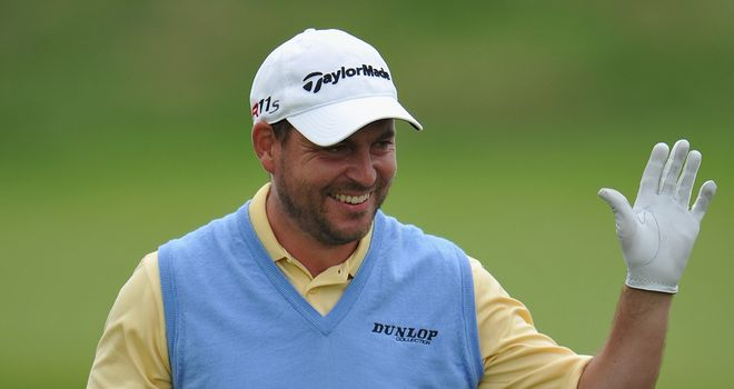 David Howell: managed birdies at the 14th and 16th to move to six under par
