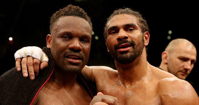 Chisora and Haye: Mates again