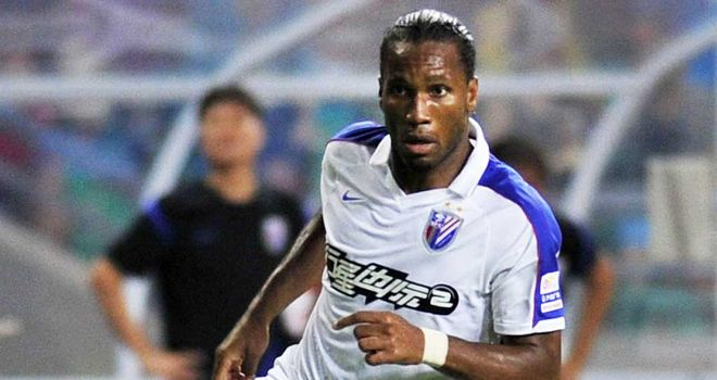 Didier Drogba: In action for Shanghai Shenhua