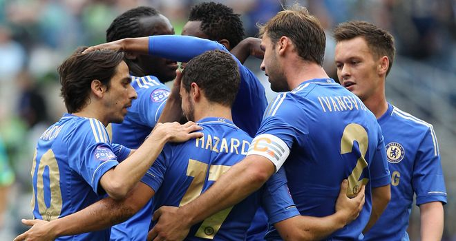 Winning start: Chelsea began pre-season tour of USA with victory in Seattle