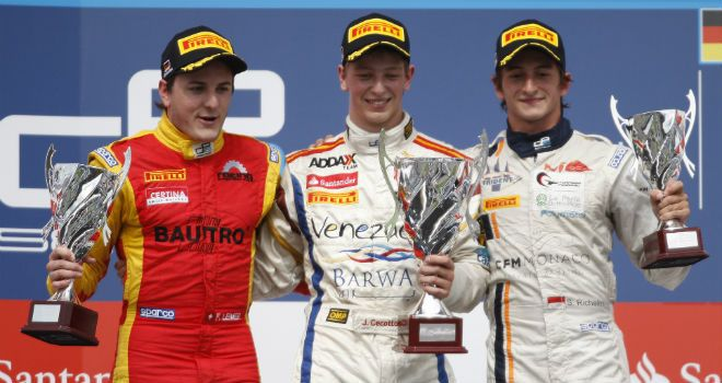 The feature race podium (Image: GP2 Series Media)