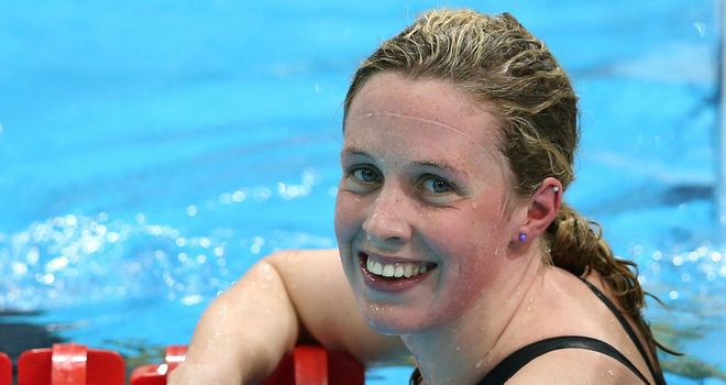 Hannah Miley: Gold in the 400 metres individual medley