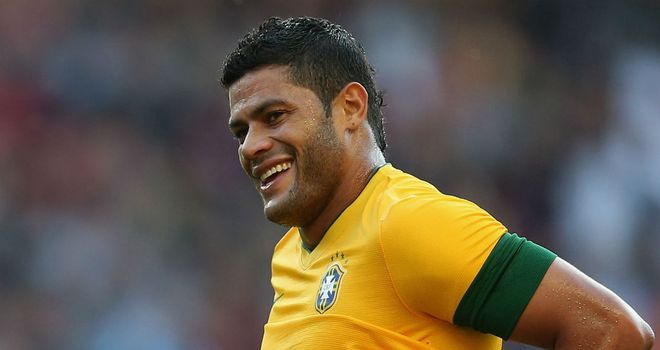 Hulk: On target for Brazil against South Africa
