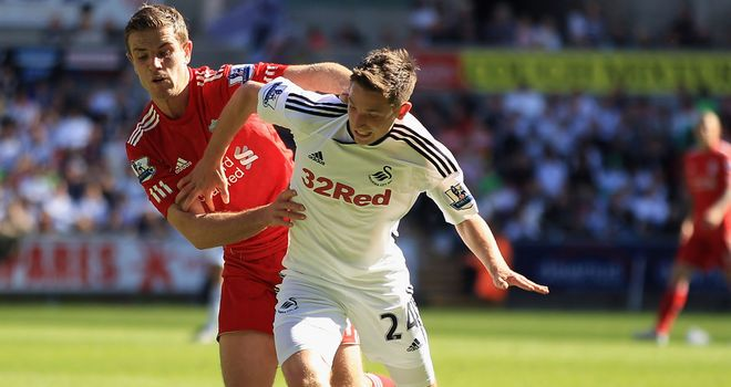 Joe Allen: The 22-year-old Swansea man is being chased by a number of clubs after impressing last season