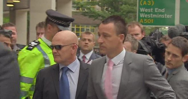 John Terry: Chelsea captain arrived at court for the start of his trial for allegedly racially abusing Anton Ferdinand